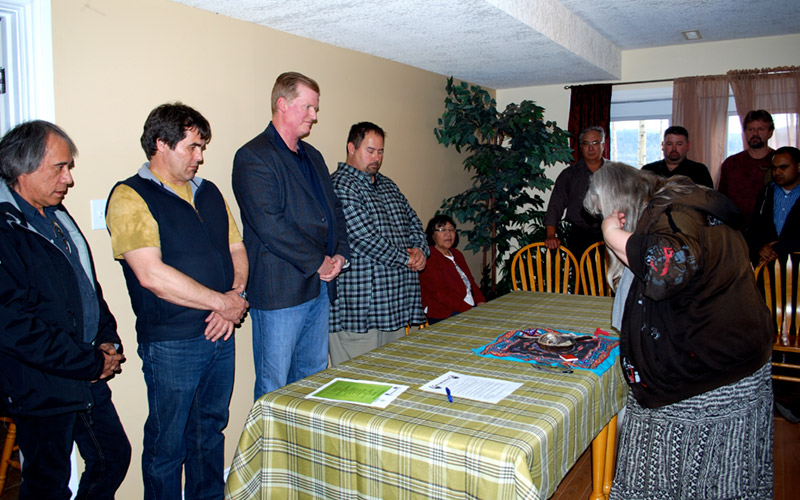 West Moberly smudging ceremony